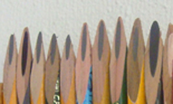 19x4x12cm - wood, pencils / bois, crayons - 2008